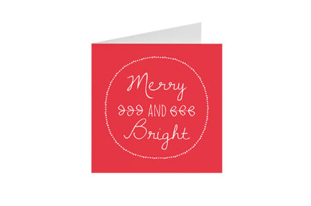 Postkaart Merry And Bright