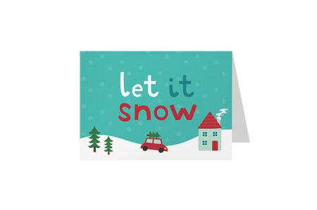 Postkaart Let It Snow