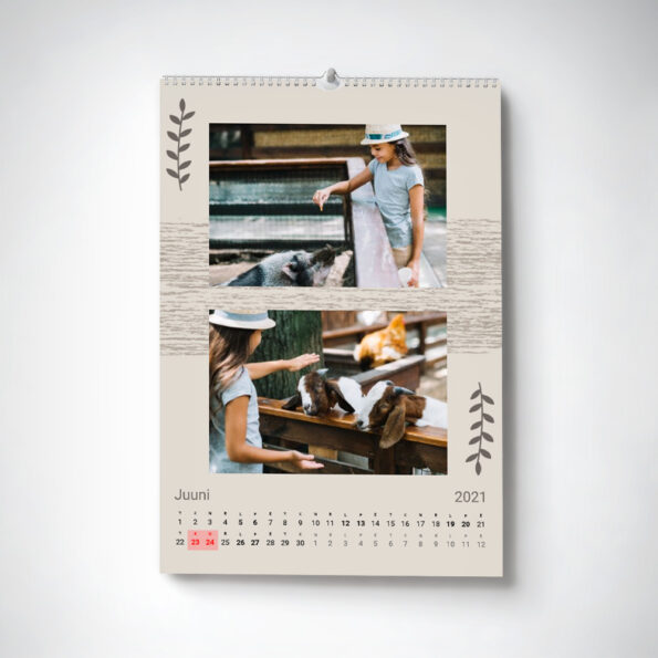 Kalender Maale A4 horisontaalne 2